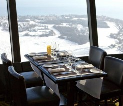 CN Tower 360 Restaurant Snow Background