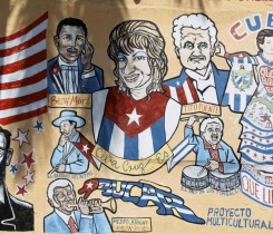Cuban-themed murals adorn SW 8th Street in Little Havana, Miami REUTERS/Brian Blanco