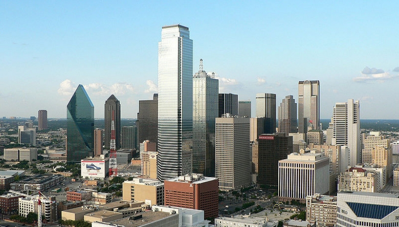 Dallas Downtown Aerial Skyline