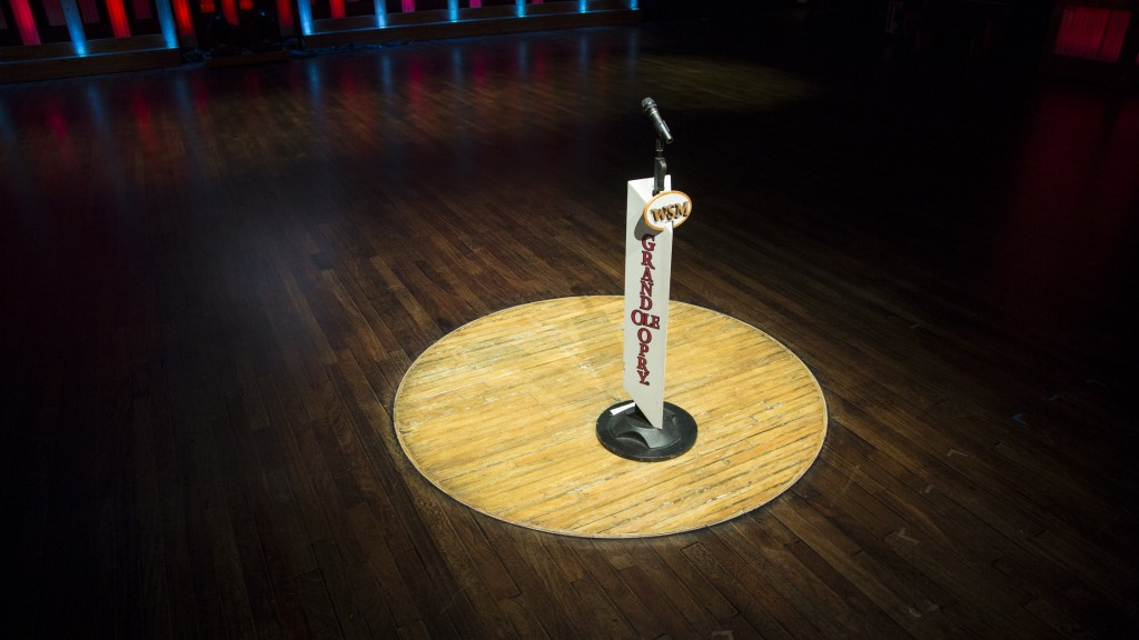 Grand Ole Opry House Stage - Famed Circle of Wood Courtesy of GOO