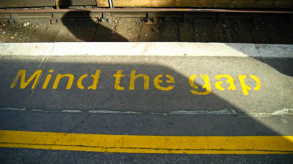 Mind the Gap in London Courtesy of Terri Lundberg