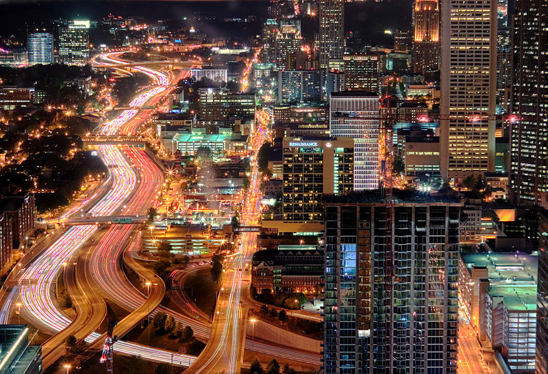 Nighttime Atlanta Skyline Courtesy of Brett Weinstein