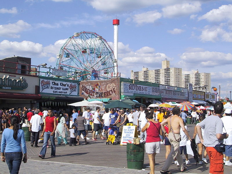 Riegelmann Boardwalk Coney Island Summer Day Courtesy of Kris Arnold