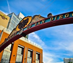 San Diego Gaslamp Quarter Sign Courtesy of Terri Lundberg