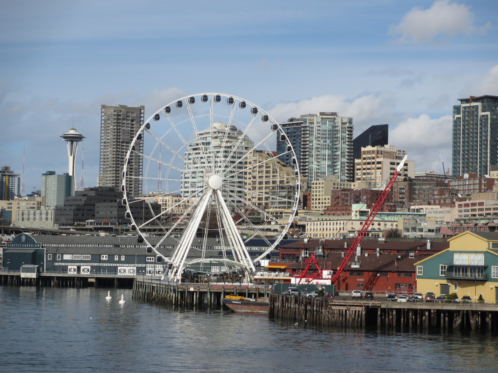 Seattle Skyline with Ferris Wheel Courtesy of Mary Jo Manzanares