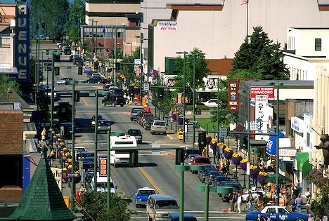 Anchorage Shopping District on Fourth Avenue