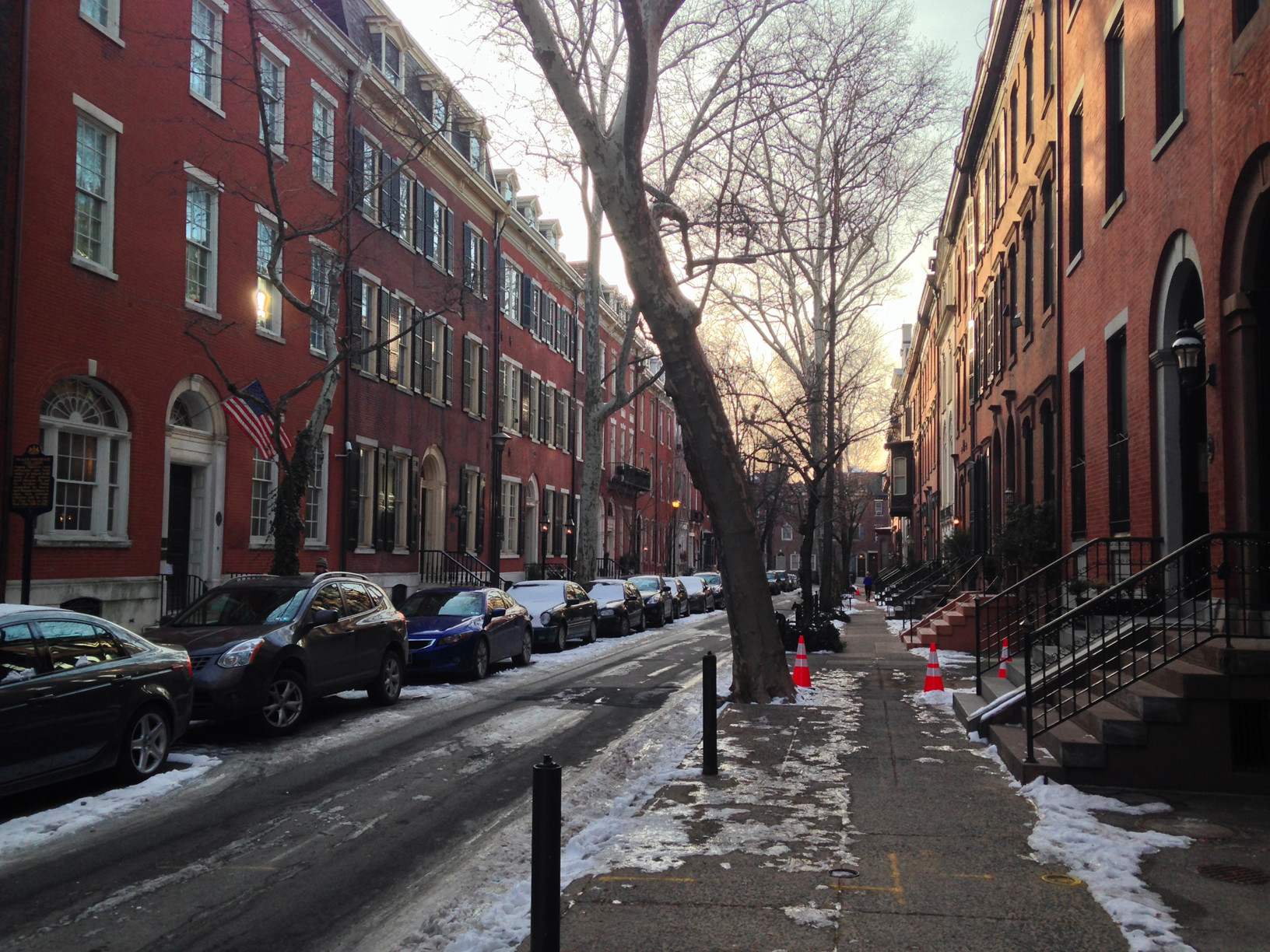 The beautiful street where you can find the Rosenbach Museum 2