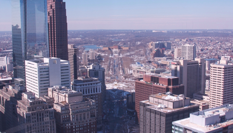 The view from the City Hall Observation Deck