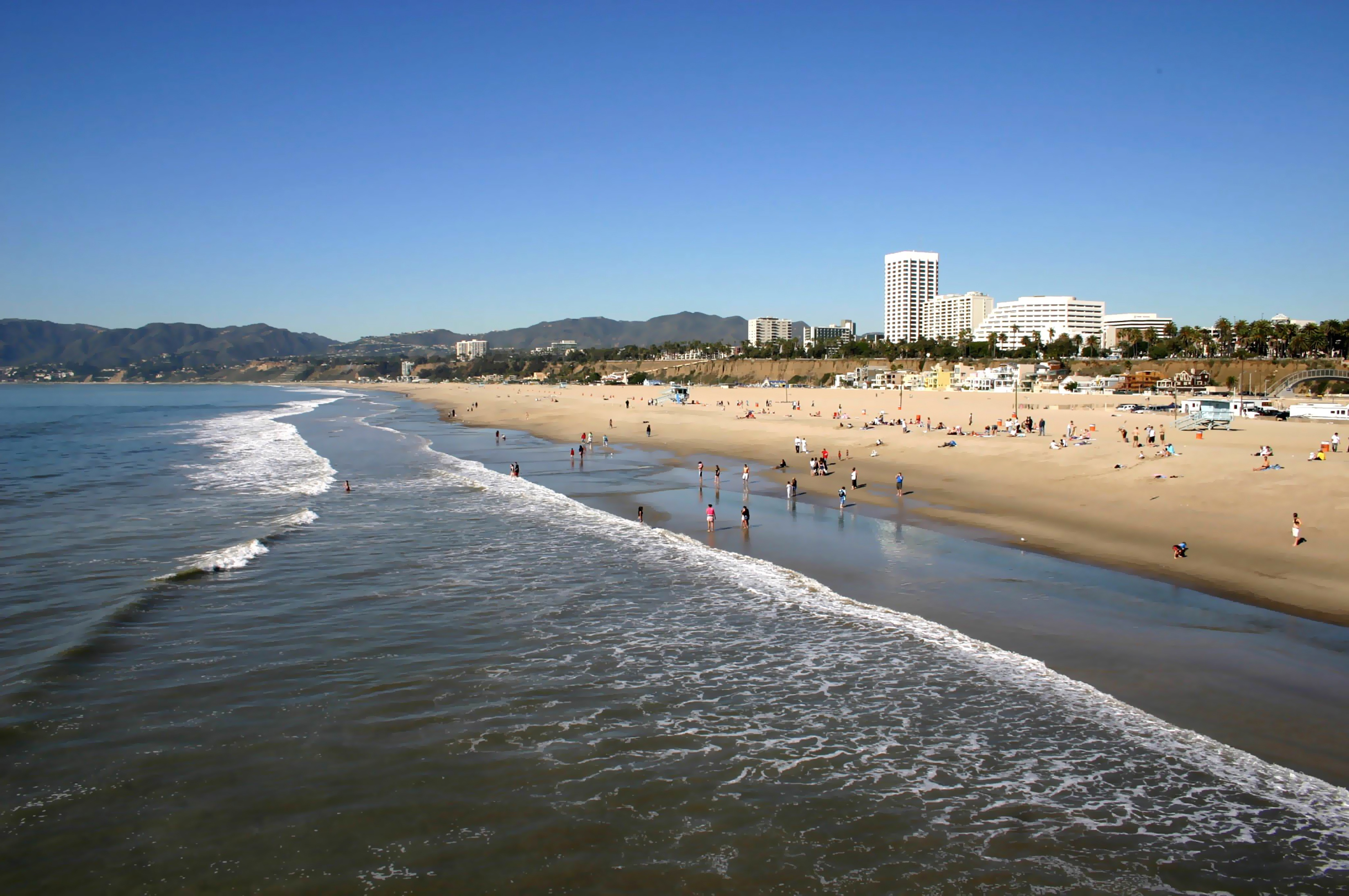 Visitors Enjoying Santa Monica Beach Courtesy of LA Tourism