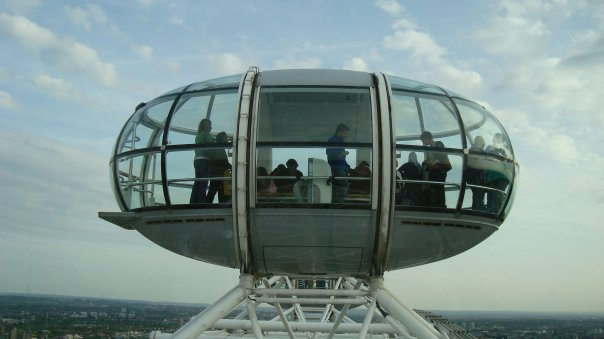 View of the top of the London Eye