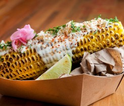 My Ceviche Charred Corn Smothered in Lime Roasted Jalapeno Mayo