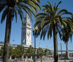 Ferry Building Embarcadero Bay Bridge