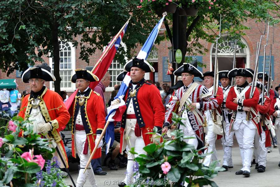 First Foot Guards Patrol the Boston Freedom Trail during Harborfest.