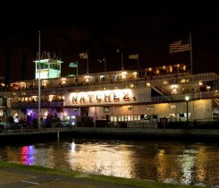 Steamboat Natchez at night