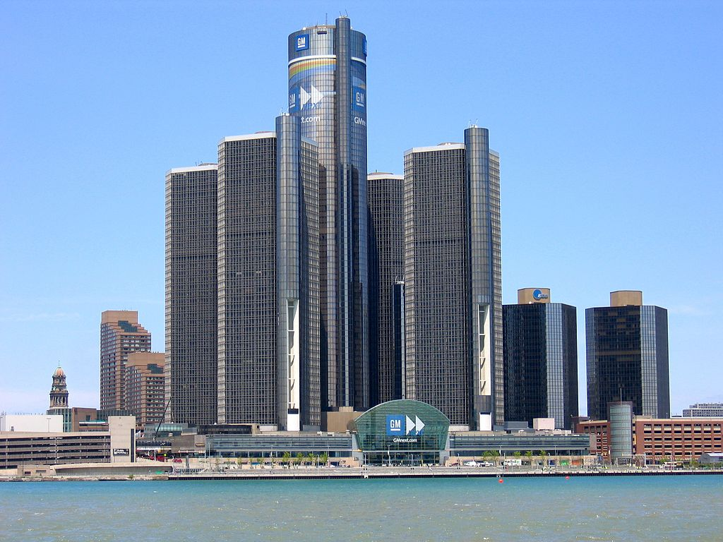 Headquarters of GM in Detroit