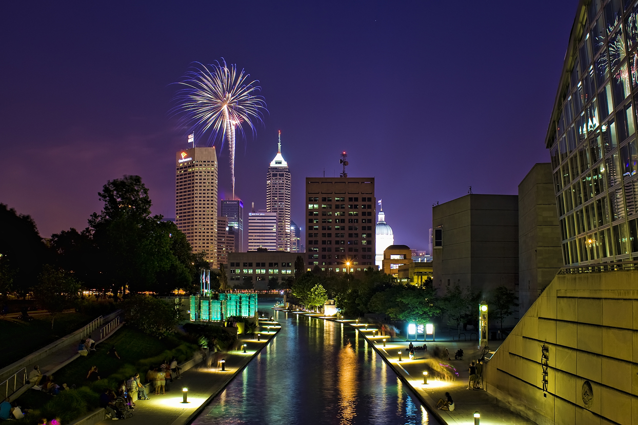 Fireworks over Indianapolis