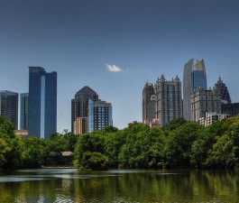 Midtown Atlanta from Piedmont Park Courtesy of Mike downeym Flickr