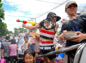 Songkran - the worlds biggest water fight.